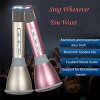 Wholesale K068 Wireless karaoke Microphone with Mic Speaker Condenser Microphone Mini Karaoke Player KTV Smartphone Singing Record player