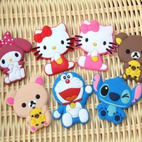 Wholesale 2016 hot Creative cute animal refrigerator magnet paste cartoon three dimensional soft magnetic plastic magnet
