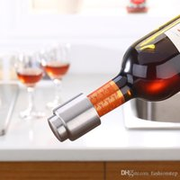Wholesale Stainless Steel Vacuum Sealed Red Wine Bottle Stopper Pump Inside Super Easy to Keep Your Best Wine Fresh