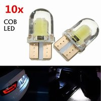 Wholesale 10PCS T10 W5W COB SMD LED Car Canbus Silica Bright White License Dome Map Door Dashboard Light Bulb DC V CLT_04H