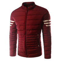 best outerwear brands - Fall Fashion Men Brand Cotton padded Coat Best selling Outerwear Wide waisted Men Duck Coat Jacket Striped Sleeve Men Parkas DT27