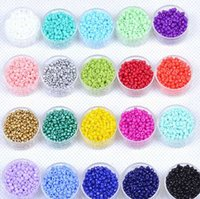 Wholesale Fashion Jewelry Findings Making DIY Czech Beads mm Round Glass Seed Spacer Loose Charm Beads Garment Accessories Silver Golden Aqua g