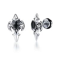 beautiful swords - New Fashion Women Beautiful cross sword earring inlaid with mirco inlay zircon stud charm stud fashion jewelry valentine s day gifts GE320