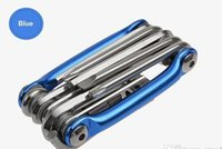 Wholesale NEW Mini Repair Pocket Folding Tool in Bicycle Moutain Road Bike Tool Set Cycling Multi Repair Tools Kit Wrench