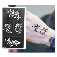 Wholesale Hot Flower Pattern Tattoo Stencil Drawing For Painting Airbrush Tattoo Stencils For Tattoos Temporary Henna Templates Stickers