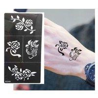 airbrush tattoo stencils - Hot Flower Pattern Tattoo Stencil Drawing For Painting Airbrush Tattoo Stencils For Tattoos Temporary Henna Templates Stickers