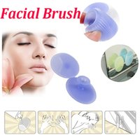 baby scrub brush - Facial Brush Infant Baby Soft Silicone Wash Face Cleaning Sucker Pad Skin Removal Exfoliator Pad SPA Scrub Skin Cleansing Brush Tool DHL