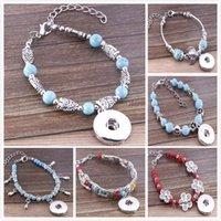 antique glass buttons - Free DHL Colorful Designed Antique Bracelet Glass Charms Mixed Color Beads Slave Bracelet Flower OWL Carved Fits MM Buttons E826L