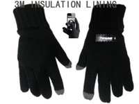 Wholesale Fall and Winter Women M THINSULATION LINING America M Company authorize Knit Gloves With Touching Fuction