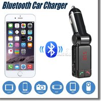 apple bluetooth charger - BC06 Mini MP3 Bluetooth Car Charger Music Player Double USB Charger Port A2DP FM Transmit LED Display For Universal Cellphone Retail Package