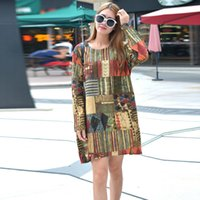 add a size - In the autumn of loose thin cotton autumn fat mm large size women add fertilizer increased long sleeved dress