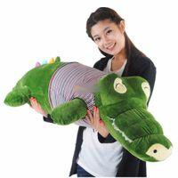 alligator plush toy - new cm Giant Stuffed Plush Soft Crocodile Alligator bhm89