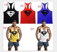 fine clothing - Big yards fine condole belt vest fitness clothing gym superman dig muscle cotton vest men in sports training