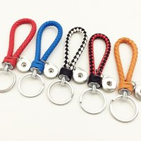 Wholesale NOOSA PU leather snap button Keychain jewelry hot sale noosa Snap Key Chain Fit mm Button