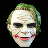adult joker costumes - Halloween Mask Masquerade for Adult Fashion Movie Batman The Dark Knight Rises The Joker Mask Clown Resin Masquerade Cosplay Party Costume