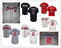 atlanta grey - New Custom Atlanta Braves Jersey Mens Dansby Swanson Flexbase Jersey Navy Blue White Grey Cream Red Stitched Name Number and Logos