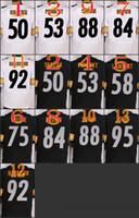 Wholesale 2016 NIK Elite Football Stitched Steelers Brown Shazier Pouncey Lambert Greene Swann Jones White Black Jerseys Mix