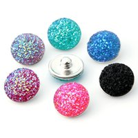 Wholesale 18mm Bling Snap Button Hot Selling Press Studs Buttons Bracelet for Women Lady Fit Bracelet Bangle Jewelry Findings Components