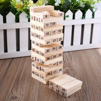 Wholesale Baby Toys Family Game Wooden Blocks Dice Tumbling Stacking Tower Digital Building Blocks Popular Game Education Gift
