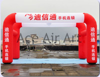 advertising gallery - enter inflatable arch tent red and white inflatable gallery tent for advertising and free advertising logo