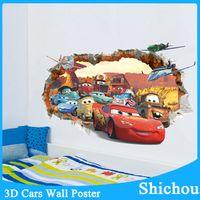 Wholesale movie cars wall stickers kid bed play room decoration diy d cartoon film fantastic window home decal nursery kids