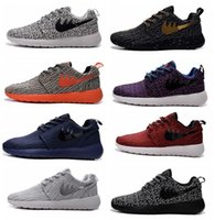 Wholesale 2016 Mens Roshe Run One BR X Kanye West Running Sport Boost Shoes Turtle Dove Grey Pirate Black Purple Red Blue US7 US11