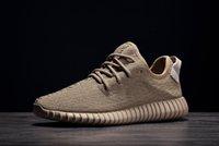 Wholesale Oxford Tan Kanye Milan West Boost Classic Black Grey White Men Women Fashion Sneaker Shoes Dropshipping Accepted