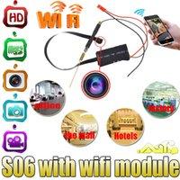 La nueva llegada S06 HD 1080P WiFi espía Cámara IP de bricolaje Módulo DVR Cam niñera Seguridad 24H cámara del monitor inalámbrico IP P2P remoto módulo de la cámara de CCTV