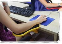 attachable table - Smartlife Desk Attachable Computer Table Arm Support Mouse Pads Arm Wrist Rests Hand Shoulder Protect Pad