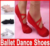 Wholesale Professional Ballet pointe Dance Shoes for Girls Boys and Adult Ladies with ribbons shoes Soft Comfortable Size New