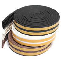 Wholesale 5 Meter E Type Rubber Foam Draught Self Adhesive Window Door Excluder Seal Strip Tape Excellent Sealing Performance