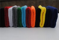 Wholesale Fashion movement wristbands Multicolor cotton sweatband wrist can be customized LOGO Men and women wristbands