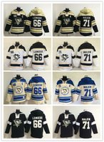 Wholesale Men s NHL Ice hockey jersey Fleece Hoodie Pittsburgh Pengui LEMIEUX MALKIN The traditional embroidery