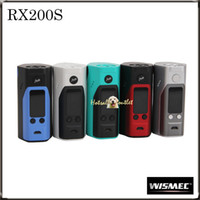 Wholesale Wismec Reuleaux RX200S Mod improved inch OLED Screen Reuleaux RX S RX200W Mod with Upgradeable Firmware RX200S Mod Orginal