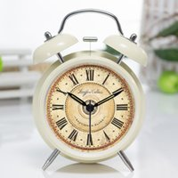 accurate for sale - ChowDon New Novelty Students Europe Style Loud Ring Double Bell Circular Metal Cheap Accurate Desk Alarm Clocks for Sale Online