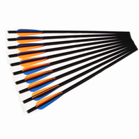 Wholesale 16 Inch Fiberglass Crossbow Arrow Bolt Fletched Inch Vane With Broadheads Pack