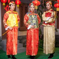 ancient chinese emperors - Cheap Chinese traditional ancient Costume emperor landlords master show clothing robes suits Qing Dynasty Prince Man traditional clothing