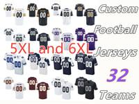 big ram - 2016 Men s Elite Custom Football XL XL Big Size Jerseys Stitched Any Name Number Teams Cowboys Vikings Rams Broncos Seahawks Raiders