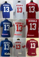 beckham jersey youth - 13 Odell Beckham Jr White Red Blue Home Away Road Cheap Elite Football jerseys Men Women Youth Kids Embroidery Logo Mix Order
