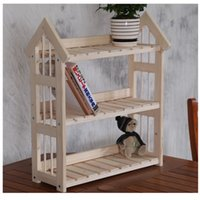 wood furniture kitchen - Three racks layer shelies Booking room shelf kitchen adjustable Storage Rack