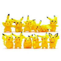 Wholesale Poke Mon mini Action Figures toys mini cartoon children toys Poke Finger dolls DHL shipping