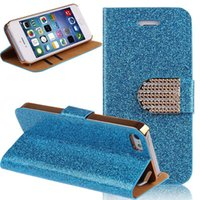 Cheap Luxury Glitter Bling Crystal Diamond PU Leather Flip Bling Cover Case with Card Slots For Iphone 5s 6 6s plus 7 7 plus Samsung S6 S7 Note 5