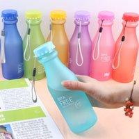 Wholesale ML my bottle Candy Colord Portable Leak proof Water Bottle Sport Plastic Lemon Juice Cup Drinkware BPA Free