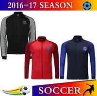 Wholesale 2016 new soccer winter coats long sleeve athletic psg football jackets men Soccer hoodies Paris soccer coats