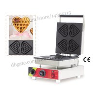 Wholesale Heart shape lolly waffle making machine stainless steel heart love shape waffle maker with heart shape lolly waffle moulds Non Stick C