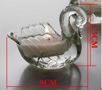 Wholesale Transparent small irrigation wax swan candlestick vanilla Wedding wedding place candles