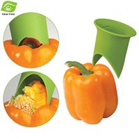 bell pepper chili - 2pcs Set Creative Household Kitchen Progressive Pepper Chili Bell Jalapeno Corer Duo Seeder Cooking Vegetable Tools