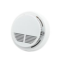 Wholesale free sample fast shipping hot Wired smoke detector wire network type photoelectronic smoke detector