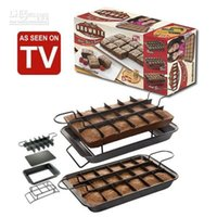 baking brownies - PERFECT BROWNIE PAN SET Kitchen Baking Cake Mould Bakeware Cake Making Set Tools High Quality BY FEDEX