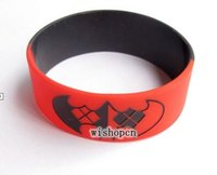Wholesale set New Popular Batman Logo Wristbands Silicone Bracelets S